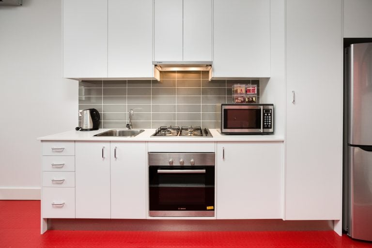 star apartment kitchen with complete kitchen equipment and utensils