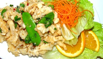 fry food with beans,fresh carrot, lettuce, oranges at star apartment